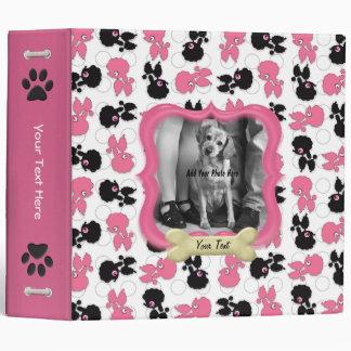 """Perros de caniches negro y rosa carpeta 2"""""""