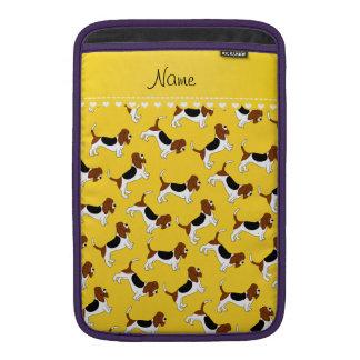 Perros de caza amarillos conocidos personalizados funda macbook air