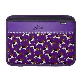 Perros de caza púrpuras conocidos personalizados funda  MacBook