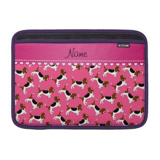 Perros de caza rosados conocidos personalizados fundas para macbook air