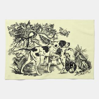perros de caza toallas de cocina