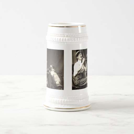 Perros de consumición 1905 de la cerveza jarra de cerveza