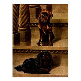 Perros de juguete del vintage tarjetas postales