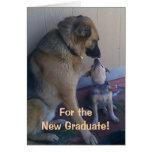 Perros de la enhorabuena de la graduación felicitación