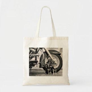 Perros de la motocicleta bolsa