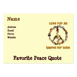Perros de la paz plantillas de tarjetas de visita