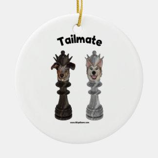 Perros de la reina del ajedrez de Tailmate Ornamentos De Reyes Magos