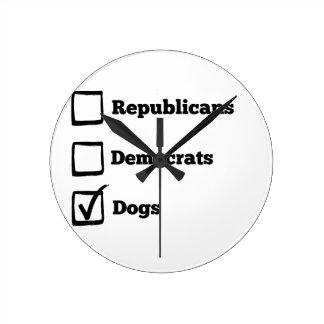 ¡Perros de la selección! Impresión política del Reloj Redondo Mediano