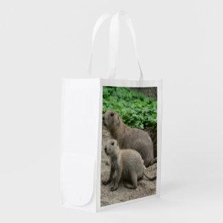 Perros de las praderas 04 bolsa reutilizable
