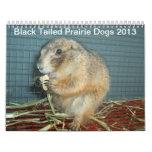 Perros de las praderas atados negro - calendario