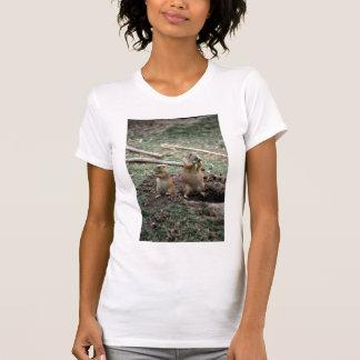Perros de las praderas de cola negra, museo del camisetas