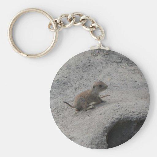 Perros de las praderas llavero redondo tipo pin