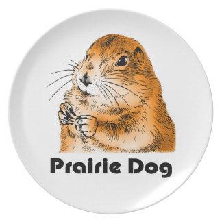 Perros de las praderas, placa plato