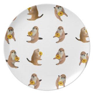 Perros de las praderas, placa plato de cena