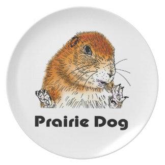 Perros de las praderas, placa plato de comida