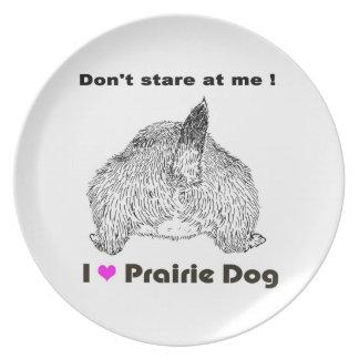 Perros de las praderas, placa platos para fiestas