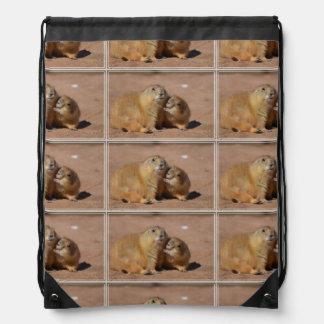 Perros de las praderas Snuggling Mochilas