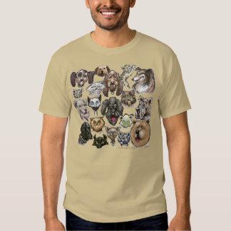 Perros de los gatos n playeras