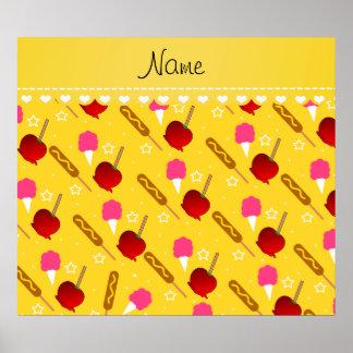 Perros de maíz amarillos conocidos de las manzanas póster