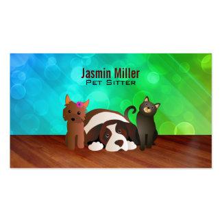 Perros de mascotas y tarjetas de visita del gato
