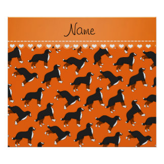 Perros de montaña de Bernese anaranjados conocidos Póster