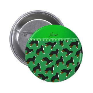 Perros de montaña de Bernese verdes conocidos Pin Redondo 5 Cm
