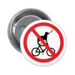 Perros de no fumadores en las bicis pins
