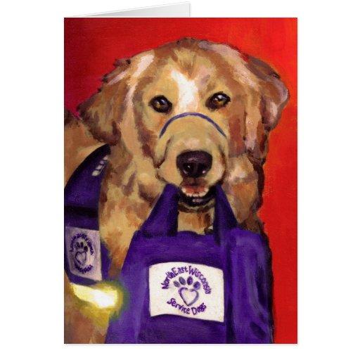 Perros de nordeste del servicio de Wisconsin Tarjeta De Felicitación