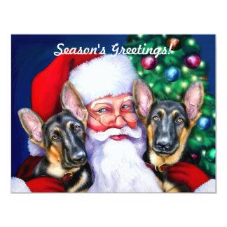 Perros de pastor alemán de Santas Invitación