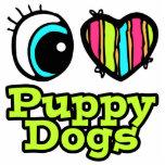 Perros de perrito brillantes del amor del corazón  esculturas fotograficas
