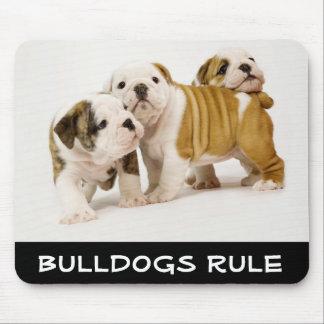 Perros de perrito lindos de la regla de los dogos  alfombrillas de raton
