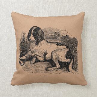 Perros de perros de los 1800s del perro de caza de cojín decorativo