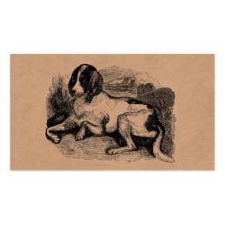 Perros de perros de los 1800s del perro de caza de plantillas de tarjetas personales
