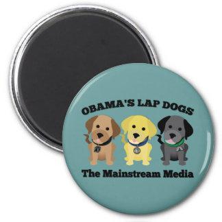 Perros de revestimiento de Obama - los medios de l Imán Redondo 5 Cm