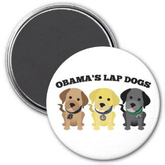 Perros de revestimiento de Obama - los medios de l Imán Redondo 7 Cm