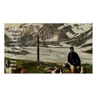 Perros de St Bernard, Valais, montañas de, cla de  Tarjeta De Visita