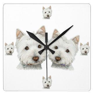 ¡Perros de Westie a montones! Reloj de pared
