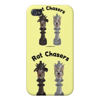 Perros del ajedrez de los cazadores de la rata iPhone 4/4S carcasas