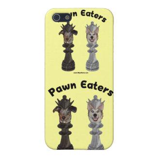 Perros del ajedrez de los comedores del empeño iPhone 5 coberturas
