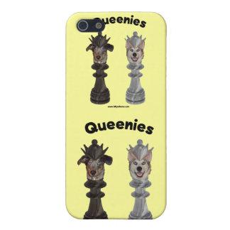 Perros del ajedrez de Queenies iPhone 5 Protectores