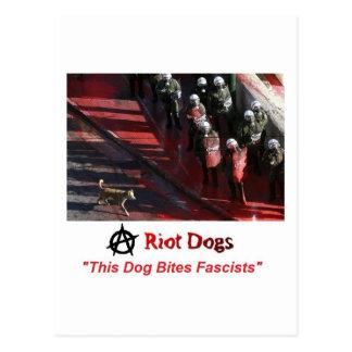 Perros del alboroto tarjetas postales