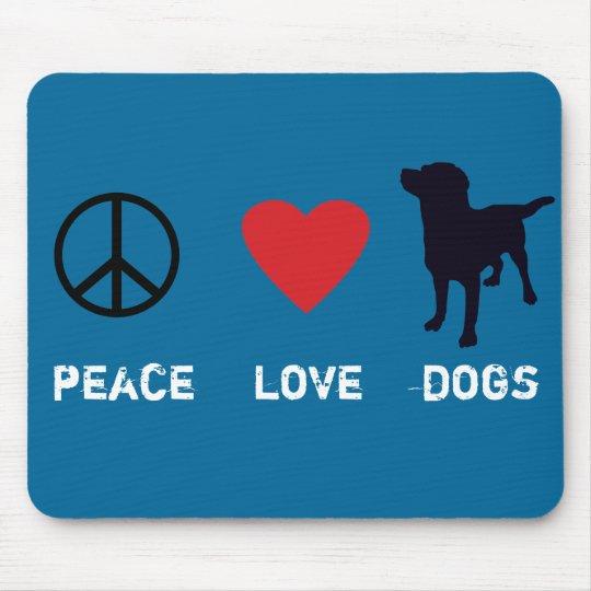 Perros del amor de la paz alfombrilla de ratón