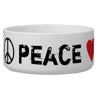 Perros del amor de la paz tazones para perrros