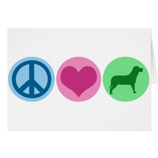 Perros del amor de la paz felicitacion