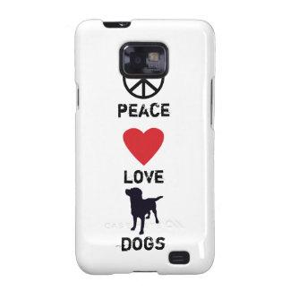 Perros del amor de la paz samsung galaxy SII funda