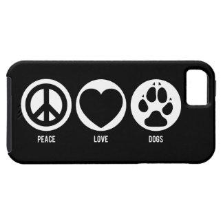 Perros del amor de la paz iPhone 5 fundas