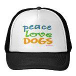 Perros del amor de la paz gorra