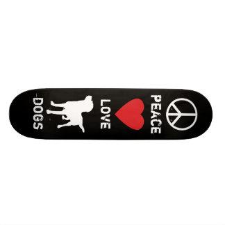 "Perros del amor de la paz patineta 7 1/4"""
