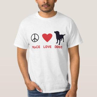 Perros del amor de la paz playera