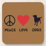 Perros del amor de la paz posavaso